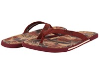 Ugg Bennison Ii Hawaiian Cork Matador Red Nubuck Men's Sandals
