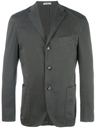 Boglioli Three Button Blazer Green