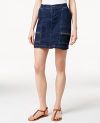 Lee Platinum Cargo Denim Skort Twilight