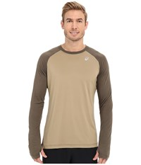 Asics Asx Dry Long Sleeve Bark Men's Long Sleeve Pullover Brown