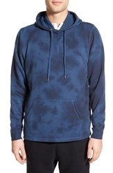 Men's The Rail Side Zip Pullover Hoodie Blue Insignia Tie Dye