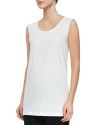 Caroline Rose Knit Tunic Tank White
