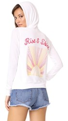 Sundry Rise And Shine Zip Hoodie White