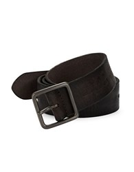 John Varvatos Burnished Leather Belt Black