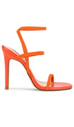 Steve Madden Nectur Strappy Heel In Orange. Red And Orange