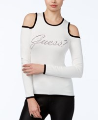 Guess Holly Cold Shoulder Graphic Top Scuffy