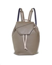 Ted Baker Cereza Flap Detail Leather Backpack Olive