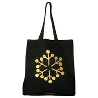 John Lewis Christmas Snowflake Tote Bag Black Gold