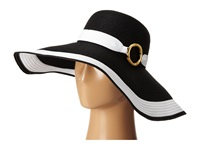 Lauren Ralph Lauren Bright And Natural Sun Hat Black White Caps