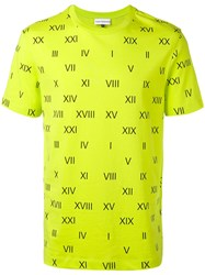 Gosha Rubchinskiy Roman Numerals T Shirt Yellow Orange