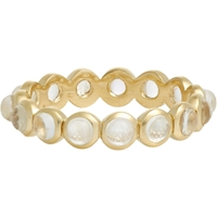 Irene Neuwirth Rainbow Moonstone And Gold Bezel Band