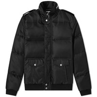Saint Laurent Nylon Aviator Jacket Black