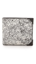 Alexander Wang Wallie Scribble Print Wallet Black And White