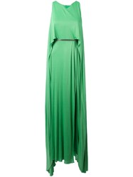 Versace Collection Layered Maxi Dress Green