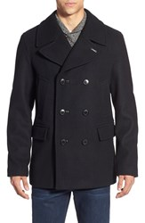 Men's Pendleton 'Maritime' Double Breasted Wool Blend Peacoat