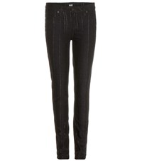 Paige Verdugo Ultra Skinny Striped Jeans Black
