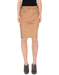 Henry Cotton's Skirts Knee Length Skirts Women Beige