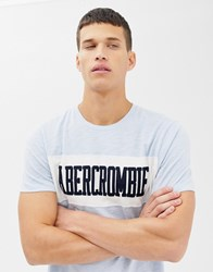 Abercrombie And Fitch Chest Panel Logo T Shirt In Light Blue