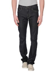 Canali Denim Denim Trousers Men Black