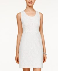 American Rag Floral Lace Sheath Dress Only At Macy's Off White