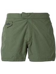 Mc2 Saint Barth Harry Swim Shorts Men Polyamide Polyester Spandex Elastane L Green