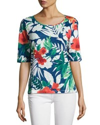 Tommy Bahama Victoria Blooms Jersey Tee Multi Pattern
