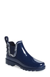 Sakroots Women's 'Rhyme' Waterproof Rain Bootie Navy With Navy Spirit Desert