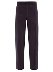 Dunhill Loose Fit Twill Trousers Navy