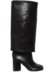 Maison Martin Margiela 80Mm Tabi Brushed Leather Boots