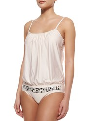 Luxe By Lisa Vogel Mirror Image Soft Cup One Piece Swimsuit Blush