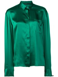 Haider Ackermann Classic Concealed Button Shirt Green
