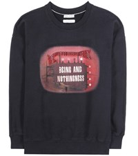Each X Other Printed Cotton Sweatshirt Black