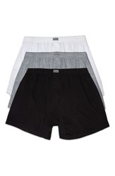 2Xist Men's 2 X Ist Cotton Boxers White Black Grey
