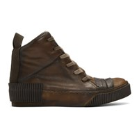 Boris Bidjan Saberi Brown Kangaroo Sneakers