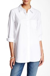 Cynthia Steffe Fitted Long Sleeve Shirt White