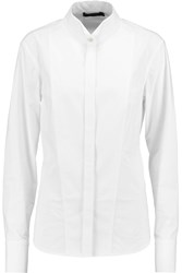 Donna Karan Stretch Cotton Poplin Shirt White