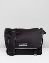 Paul Smith Ps Nylon Tech Large Messenger In Black