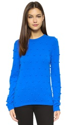 Lisa Perry Cashmere Popcorn Sweater Blue