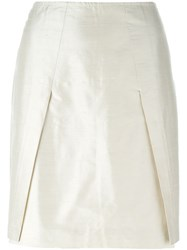Romeo Gigli Vintage Mini Pencil Skirt Nude And Neutrals