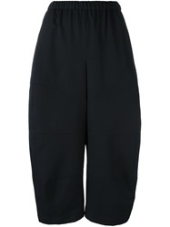 Comme Des Garcons Elastic Waistband Wide Legged Trousers Blue