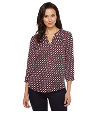 Nydj Solid Blouse W Pleated Back French Kisses Women's Blouse Brown
