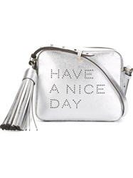Anya Hindmarch 'Have A Nice Day' Crossbody Bag Metallic