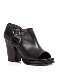 Robert Clergerie Open Toe Booties Amam Cutout High Heel Black