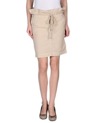 Murphy And Nye Knee Length Skirts Beige