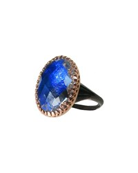 Anabel Gold Washed Topaz Ring Cobalt Larkspur And Hawk Pink