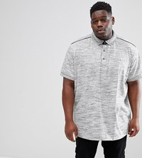 Loyalty And Faith Plus Marl Polo Shirt Grey
