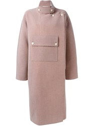 Ports 1961 Front Pocket Coat Pink And Purple