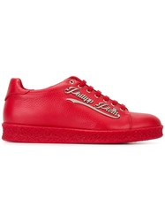 Philipp Plein Logo Plaque Sneakers Red