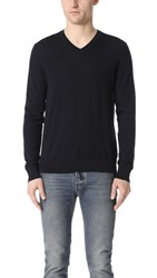 Theory Sovereign Riland V Neck Sweater Eclipse