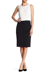 Catherine Malandrino Exposed Zipper Slim Skirt Black